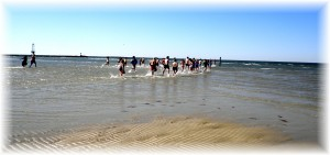 Dashing into the Chesapeake Bay in February for Habitat for Humanity charity event