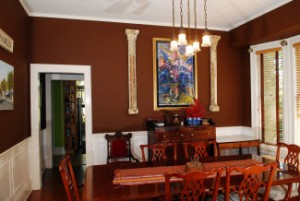 View of the beautiful Sterling House B&B dining room