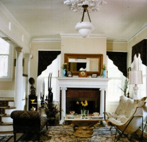 View of elegant foyer in Victorian Revival home for sale in Cape Charles, VA