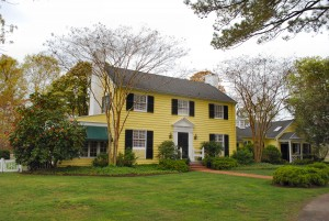 Kendall Grove large yellow Colonial style home on Eastern Shore VA