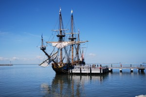 Kalmar Nyckel Tall Sailing Ship At Her Berth In Lews Delaware