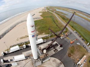 NASA photo of aerial view wallops island va launch pad