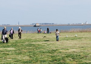 People leaving after Antares rocket launch scrubbed at Wallops Island June 17, 2013