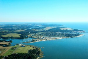 Cape Charles Southern Tip aerial photo