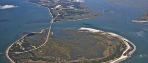 Aerial View of Fisherman's Island and the Eastern Shore VA National Wildlife Refuge