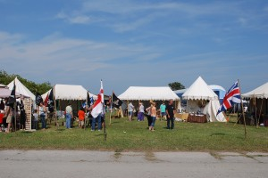 A Colonial Village at Tall Ship Festival in Cape Charles VA