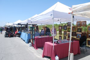 Vendor Tents Cape Charles Beach July 4th
