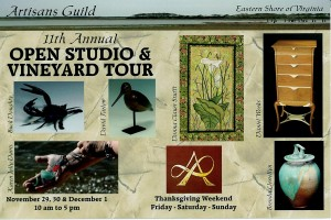 Brochure for the 11th annual artisan open studio tour on Eastern Shore VA