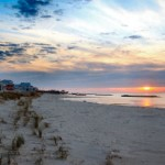 Beach sunset with houses resizedjpg