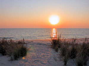 Roehm sunset with beach