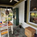 Porch table closeup