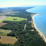 The Bluff aerial looking south east showing atlantic ocean and Ches Bay resized